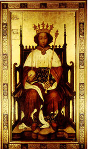 Richard II of England, coronation portrait, Westminster Abbey.