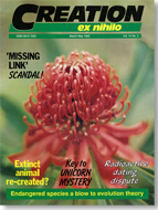 Creation Magazine Volume 14 Issue 2 Cover