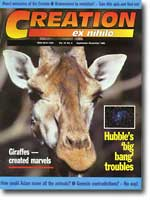 Creation Magazine Volume 18 Issue 4 Cover