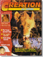 Creation Magazine Volume 20 Issue 1 Cover