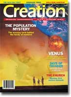 Creation Magazine Volume 23 Issue 3 Cover