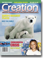 Creation Magazine Volume 24 Issue 1 Cover
