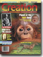 Creation Magazine Volume 24 Issue 3 Cover