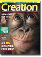 Creation Magazine Volume 25 Issue 1 Cover