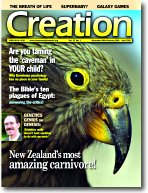 Creation Magazine Volume 27 Issue 1 Cover