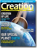 Creation Magazine Volume 28 Issue 3 Cover