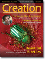 Creation Magazine Volume 30 Issue 3 Cover