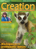 Creation Magazine Volume 31 Issue 1 Cover