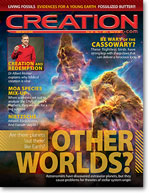 Creation Magazine Volume 33 Issue 1 Cover