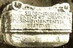 "An altar from Rome with the Latin inscription ""To unknown God"", which could have been similar to the Greek one in Athens seen by Paul."