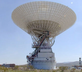 Goldstone 64-metre (210-feet) antenna.