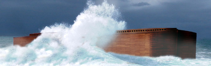 Noah's Ark on sea