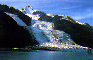 Glacier at Prince William Sound, Alaska.