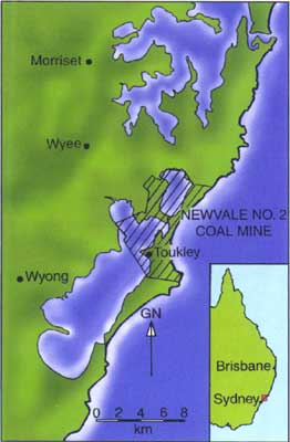 Location map for the Newvale No. 2 Coal Mine