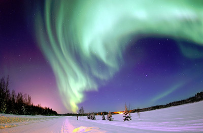 The Aurora Borealis (Northern Lights).