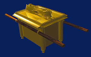Artist' impression of the Ark of the Covenant