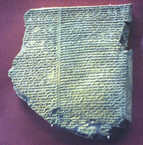 Tablet no. 11 of the Babylonian 'Epic of Gilgamesh'