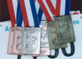 Russell Grigg's seven medals from the Asia Pacific Masters Games