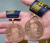 Russell Grigg's two medals from the World Masters Games