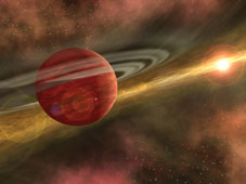 Planet orbiting star CoKu Tau 4