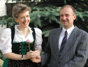 Zdeněk with his wife Nicola