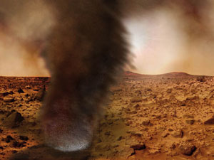 Main dust devil glow