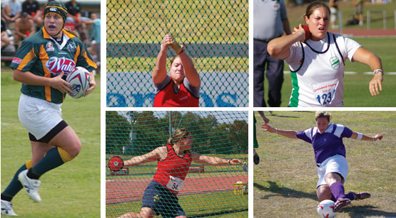 Deborah won Australian Championship gold medals in various underage categories of the Hammer and Shot Put.