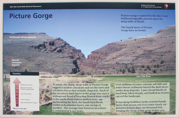 Picture Gorge sign