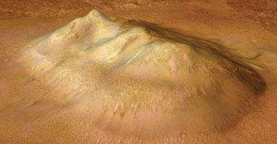 The latest high resolution photos from ESA's Mars Express confirm it is just a naturally occurring landform