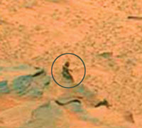 Female Figure on Mars Just a Rock