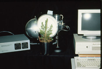 Gina has used this device to measure plant fluorescence non-destructively in her laboratory.