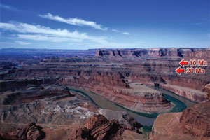 Valley of the Colorado River viewed from Dead Horse Point in Utah.