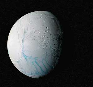 Geologically active 'tiger stripes' at the south pole of Enceladus