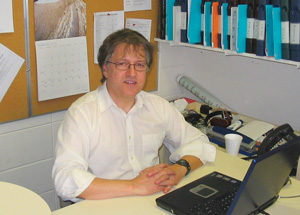 In his office at the IDRC