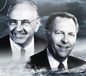 Dr John Whitcomb and Dr Henry Morris, authors of The Genesis Flood