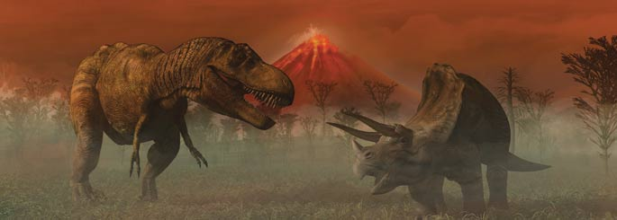 Fighting volcanosaurs