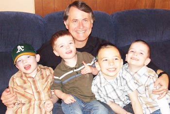 Randy with four of his grandsons