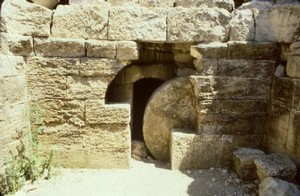 An open tomb