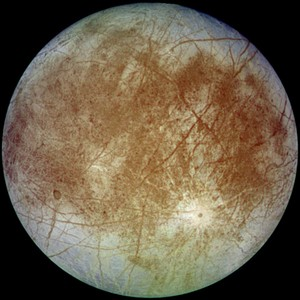 Europa, as seen by the Galileo spacecraft