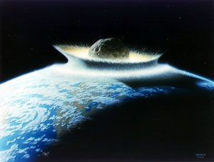 Asteroid impact with Earth
