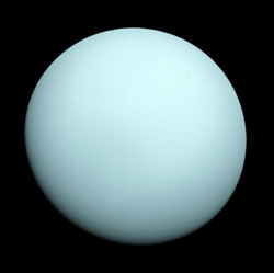 Uranus photo taken by Voyager 2