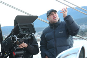 Steve Murray, director of The Voyage that Shook the World, on location.