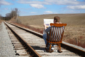 Near the end of the line