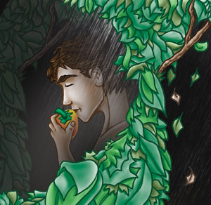 adam eating the fruit from the tree of knowledge of good and evil