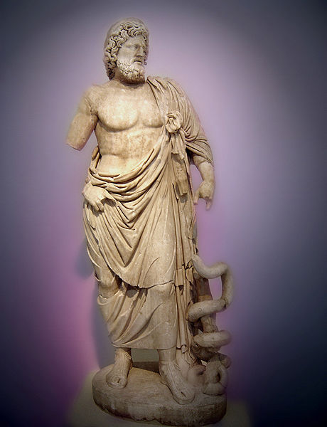 Supposed pagan 'precursor' Asklepios