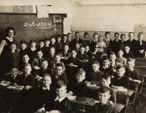 Classroom of children 1946