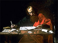 Apostle Paul Writing His Epistles