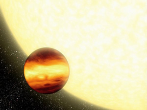 Artist impression of a gas giant.
