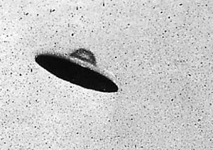 Grainy B & W image of purported UFO