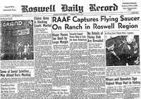 Front page of Roswell Daily Record, July 8, 1947